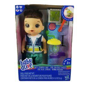 NEW Baby Alive Sweet Spoonfuls Boy Doll (Brunette)